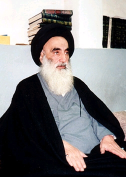 Grand Ayatollah Ali Sistani, the most powerful figure in Iraq. Copyright: www.sistani.org