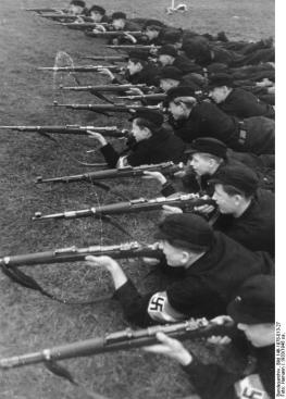 Hitler youth training for war, 1943.