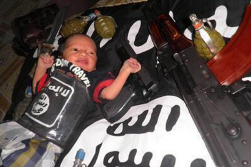 Jihadi baby from ISIS territory.